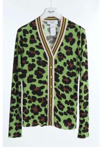 BLUGIRL Cardigan maculato verde