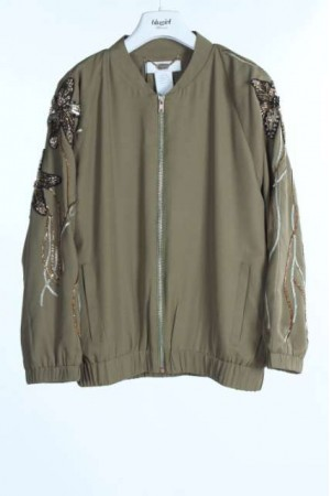 BLUGIRL Bomber verde militare