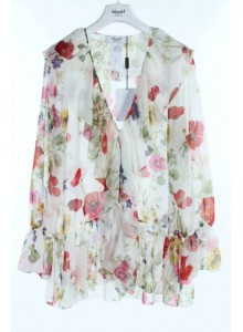 BLUGIRL di Blumarine Camicia floreale bianca