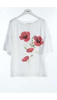 BLUGIRL di Blumarine T- shirt cotone fiori