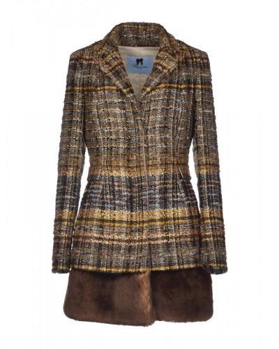 BLUMARINE  Giaccone tweed di lana
