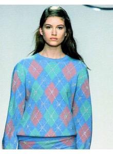 Blumarine Cardigan lana quadri