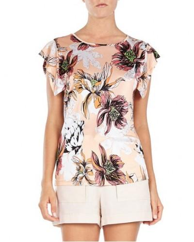 BLUMARINE   T- shirt floreale