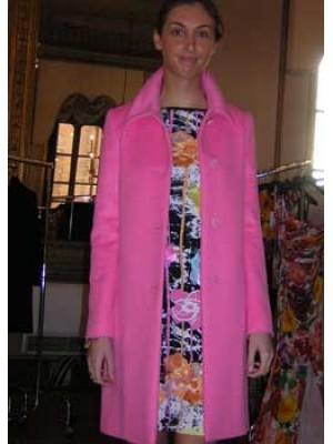 BLUMARINE   Cappotto corto rosa
