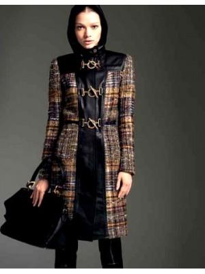 BLUMARINE   Cappotto lana pelle