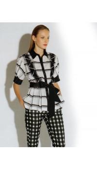 Maria Grazia Severi Camicia bianco e nero