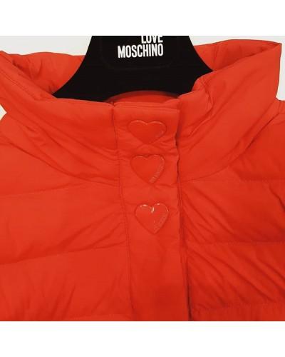 watch e2297 f4c82 Moschino Piumino rosso cuori rossi.